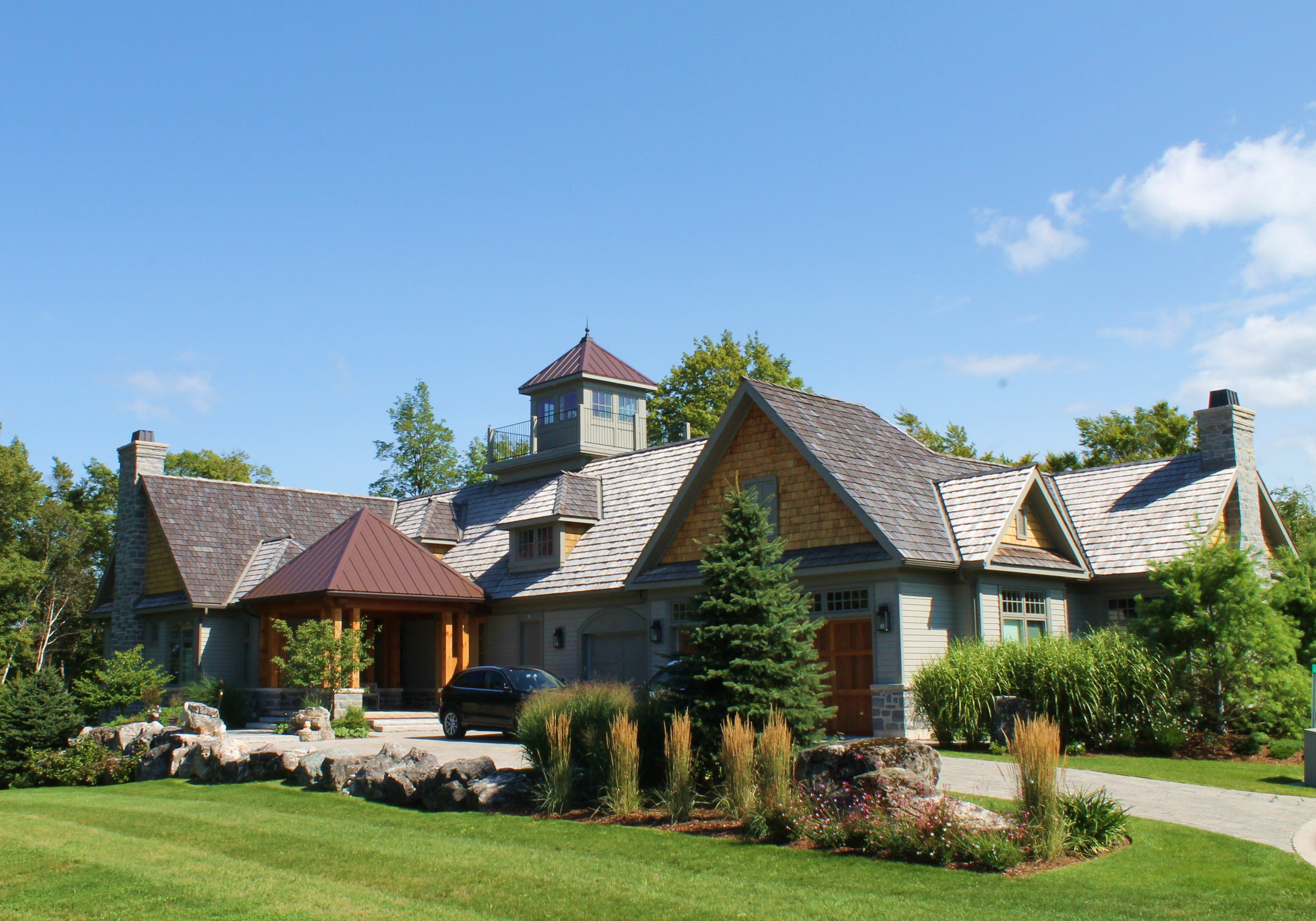 Custom homes for Stone and timber homes